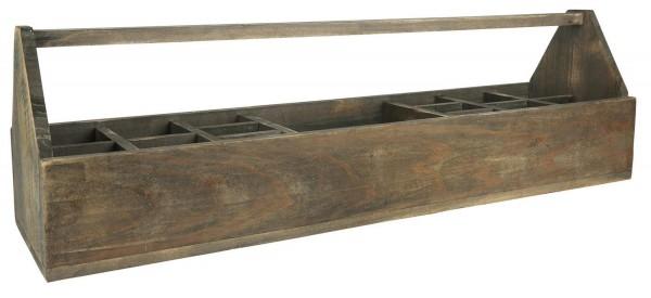 Holzkiste Holzkorb Korb Kiste Holz Alt 15 Fächer mit Henkel Ib Laursen 5218 14