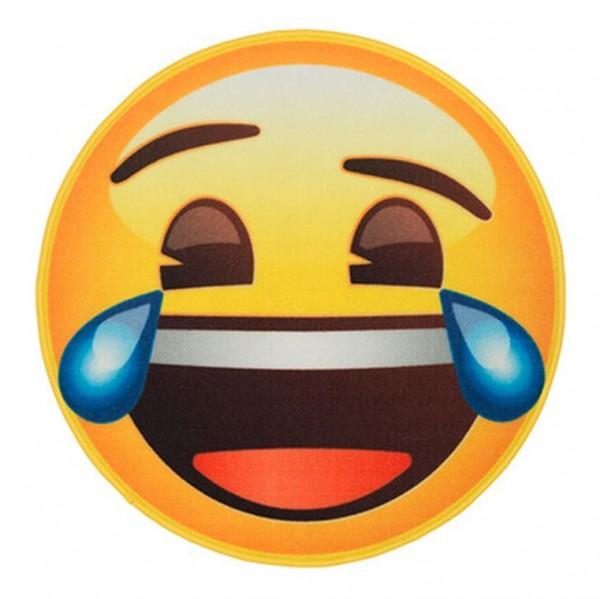 """Rockbites - Teppich """"Emoji - Face LOL"""" Ø 67cm Läufer Fuß- Schmutz- Matte 100925"""