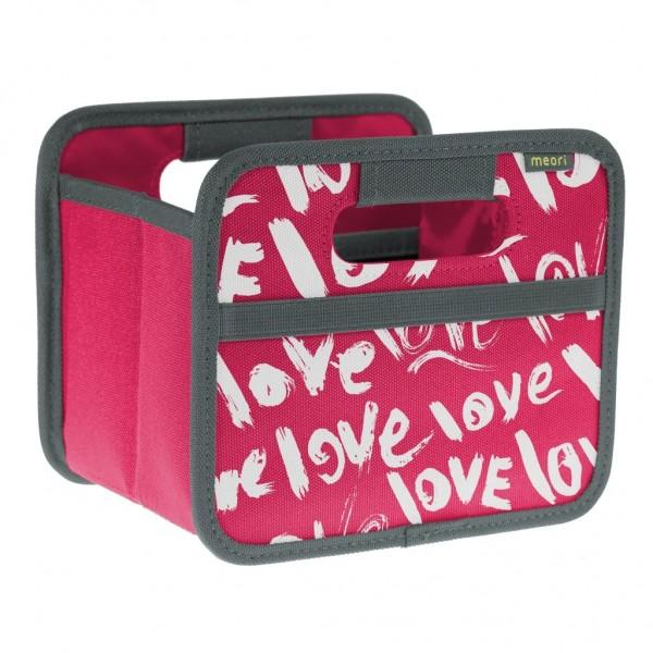 Meori - Faltbox Mini Aufbewahrungsbox Klappbox Love A100314