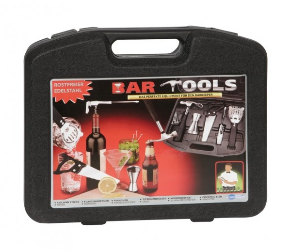 Bar Tools im Werkzeugkoffer - Bar Set - Cocktail Set