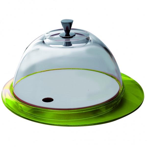 Casa Bugatti - Käseglocke, Tortenplatte, grün