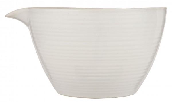 Rührschüssel Schüssel Schale mit Ausguss Keramik 3 Liter Weiß Ib Laursen 2461-11
