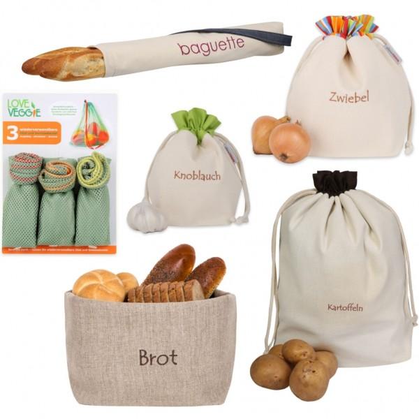 slowroom Brot-, Baguett-, Gemüse-, Obst-, Kartoffel-, Knoblauch-Beutel-Tasche