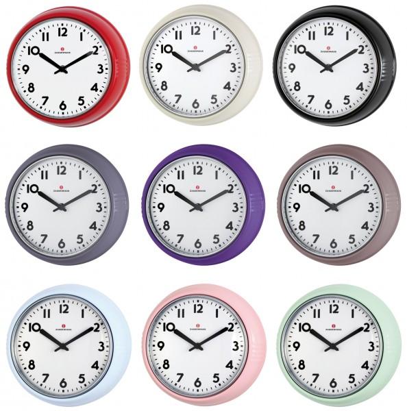 Farbauswahl Zassenhaus Retro Wanduhr Küchenuhr Vintage Uhr