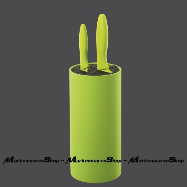 Zassenhaus - Messerblock rund kiwi mit flexiblem Borsteneinsatz 078039