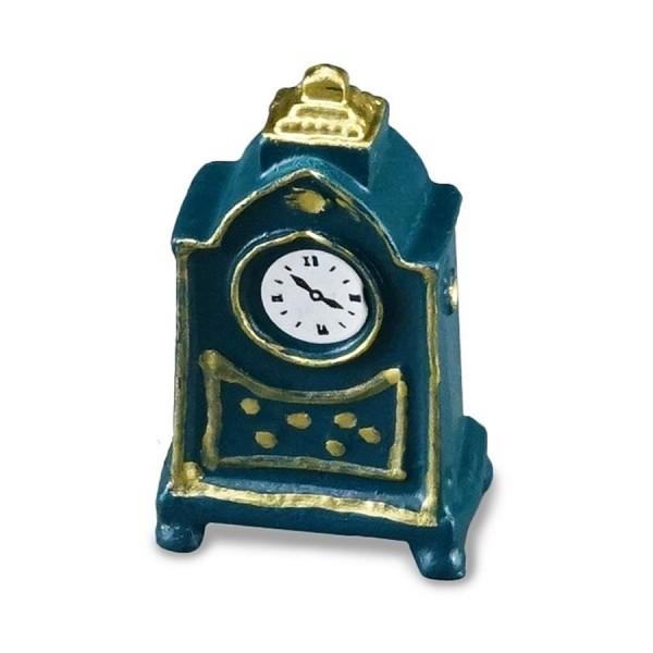 Reutter Miniaturen - Kaminuhr Blau (1.465/5) Uhr für Puppenstube M 1:12