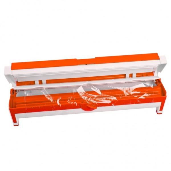 Genius - Folienspender Folienschneider Folienhalter orange 15164