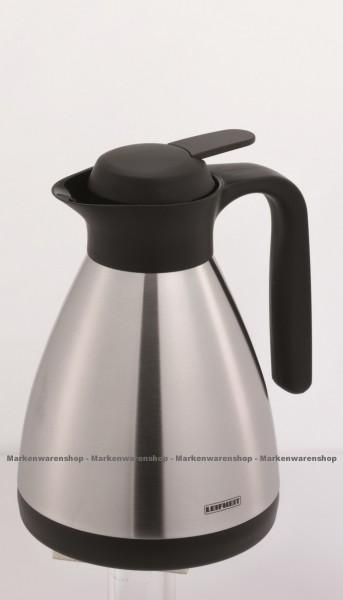 Leifheit - Isolierkanne Shine 1,0L (28506) Thermoskanne Kaffeekanne Edelstahl