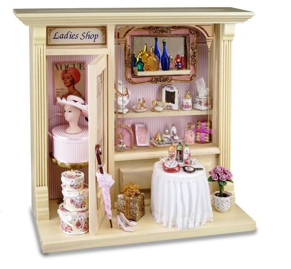 Reutter Miniaturen - Wandbild Ladys Shop 21x23cm 1.798/7 Puppenstube Ladies