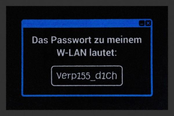 """Rockbites Fußmatte """"Passwort zu meinem W-Lan"""" Türmatte Fußabstreifer 32 (100847)"""