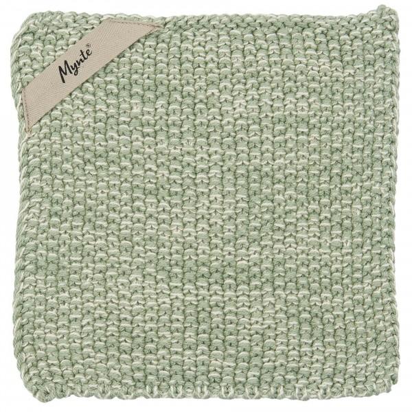 Ib Laursen - 2 Stück Topflappen Mynte Strick Hellgrün Melange (6353-42) Grün