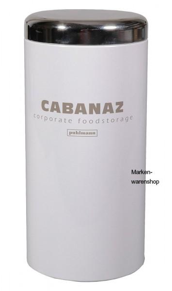 Cabanaz - Dose H 25cm weiß Kaffeedose Tischdose Vorratsdose Retro Canister