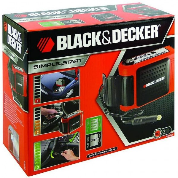 Black & Decker Schnellstartsystem BDV040 70104 Starthilfestrom Ladegerät (12 V) = 8 A