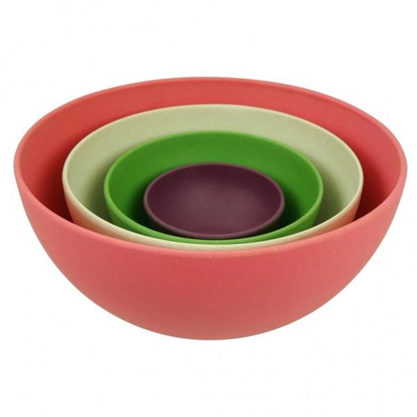 Zuperzozial - Schüssel Set 4-tlg. Salatschüssel Servierschüssel Rainbow 1400245