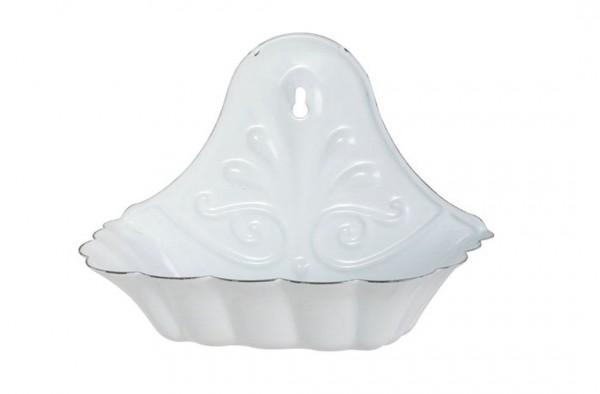 Wandseifenschale Seifenschale für die Wand Emaille Weiß Ib Laursen 0427-11