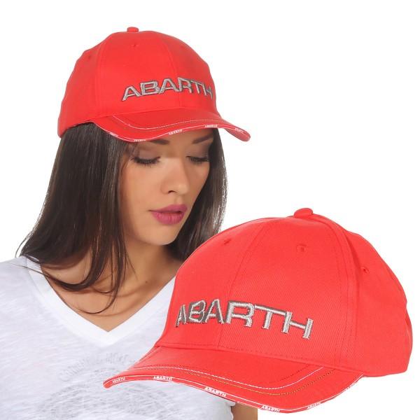 Abarth - Cap Mütze Schildmütze Kappe Basecap Damen Rot