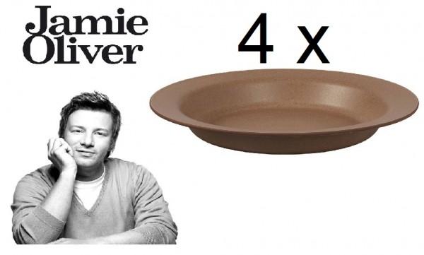 Jamie Oliver Suppenteller Pastateller 4er Set 556918 Coffee