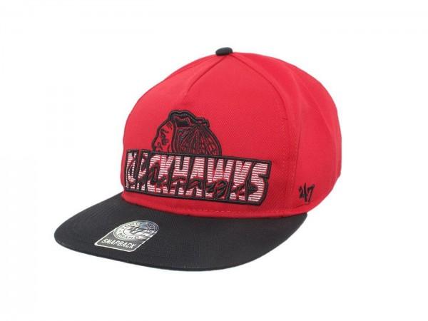 "47 Brand - NHL Cap Basecap Kappe Mütze Eishockey ""Chicago Blackhawks"" (Nr. 4)"