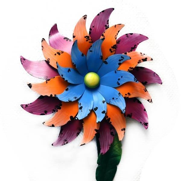 Gall u. Zick - Windrad Blume H 1,70m (NA-100) Metall Gartendeko Windspiel
