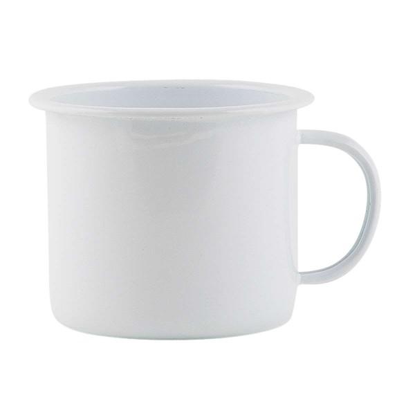 Laursen - Becher Emaille 0,25l Weiß 0453-11 Tasse Kaffeetasse Kaffeebecher Retro