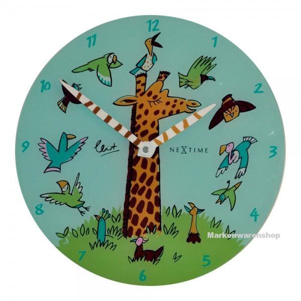 "Nextime - Wanduhr Giraffe ""Joy"" Ø30cm Kinderzimmeruhr Uhr Jugendzimmeruhr (8811)"