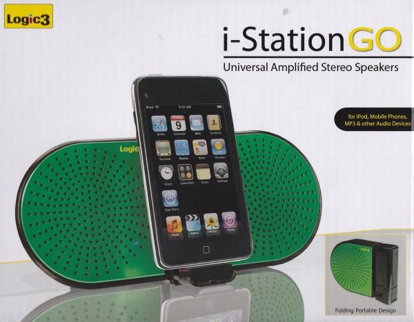 NEU OVP i-Station GO Lautsprecher mit Verstärker für i-phone ipad ipod u.s.w
