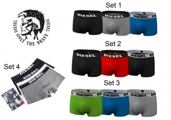 Diesel Herren Boxershorts Unterhosen 3er Pack