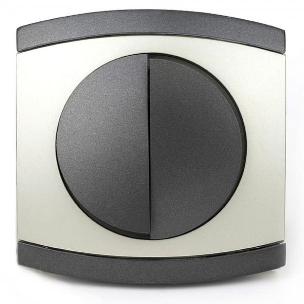 REV Modena Titan 855108 Serienschalter Taster Schalter inkl. Rahmen