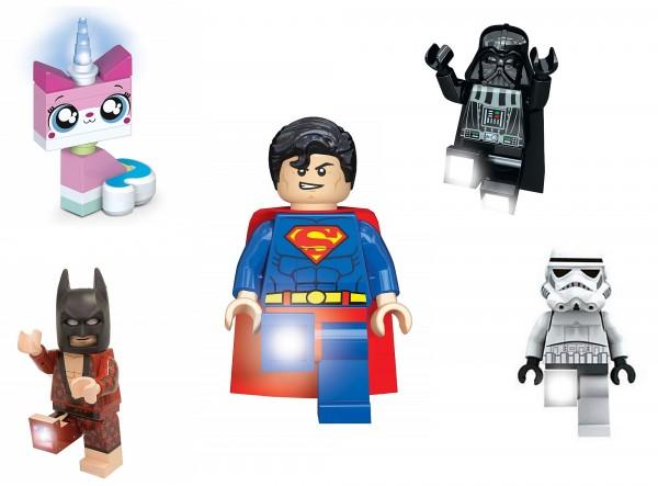 Lego Kinder Lampen Superhelden Batman Superman LED Taschenlampe Ledlite