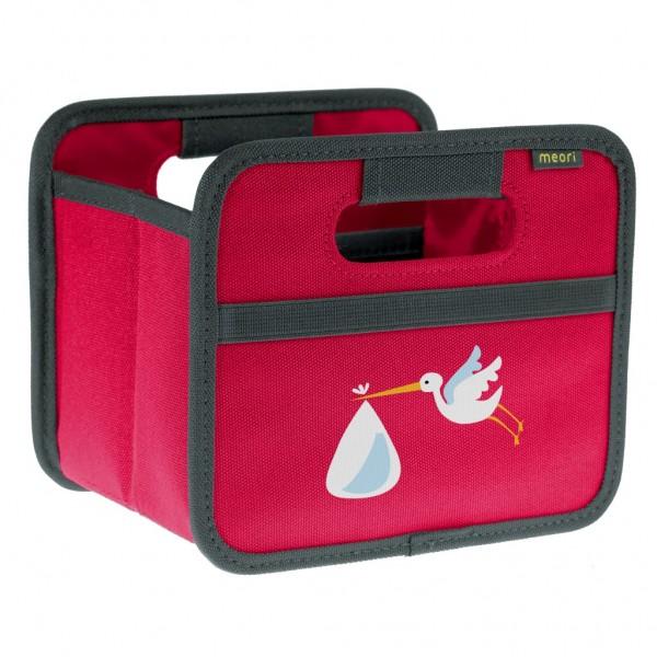 Meori - Faltbox Mini Aufbewahrungsbox Klappbox Pink Storch A100499
