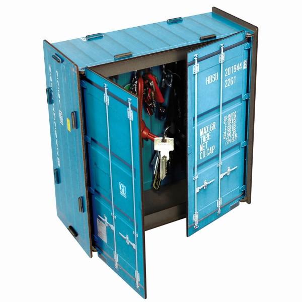 """Werkhaus - Schlüsselkasten """"Container"""" Türkis CO1063 Schlüsselschrank"""