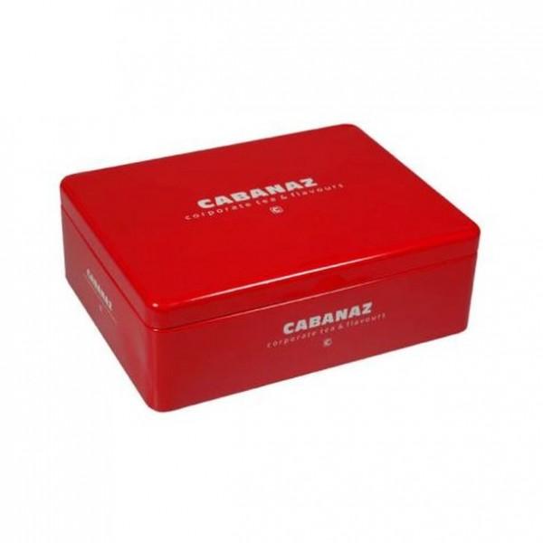 Cabanaz - Teebox (1002551) Rot Teedose Teebeuteldose Vorratsdose Metall 6 Fächer