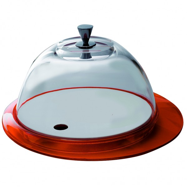 Casa Bugatti - Käseglocke, Tortenplatte, orange