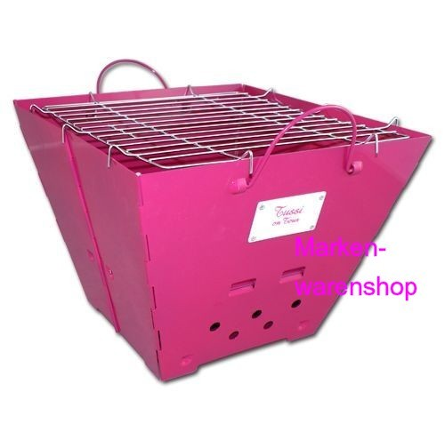 Tussi on Tour - Grill, Holzkohlegrill, Kohlegrill pink faltbar tragbar