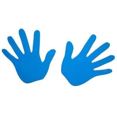 Cabanaz Garderobe Kleiderhaken Haken Wandhaken Hände - Blau