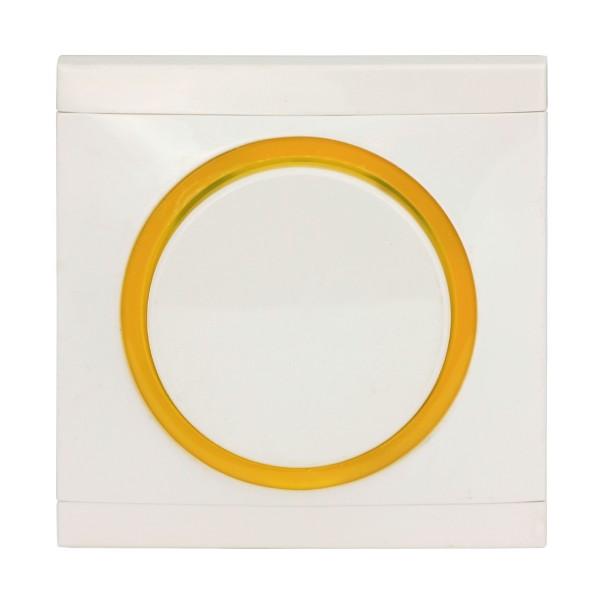 REV Ascoli weiß/gelb Kreuzschalter inkl. Rahmen 927104 Lichtschalter Schalter