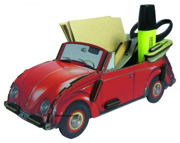 Werkhaus - VW Cabriolet Käfer Rot (WE2040) Stifteköcher Stiftebox Zettelbox Box