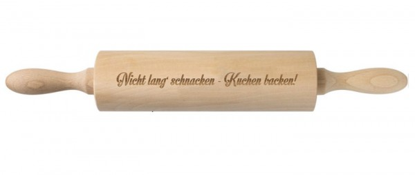 "Trend Import - Nudelholz ""Nicht lang Schnacken - Kuchen ..."" Teigroller 10674300"