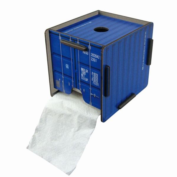 Werkhaus - ToPa Container Blau CO1201 Toilettenpapier Klopapier WC Rollen Halter