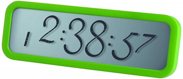 NEU Wecker Alarm Lexon Script Designer Clock LCD grün Tischuhr Wanduhr OVP