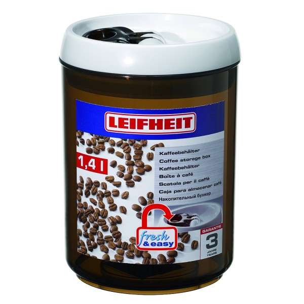 Leifheit Kaffeebehälter, Kaffeedose fresh & easy 1,4l rund