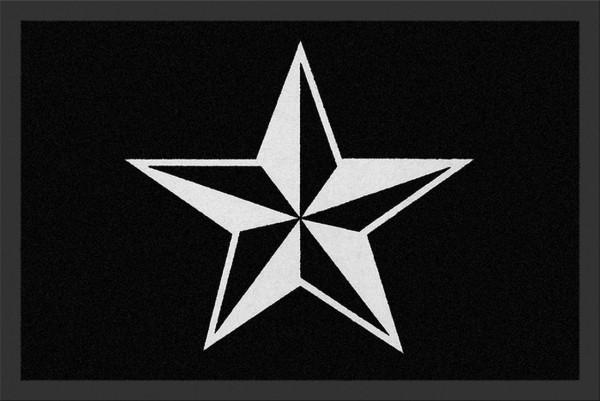 """Rockbites - Fußmatte """"Nautical Star"""" Stern Schwarz Weiß Nr.172 (100689) Türmatte"""