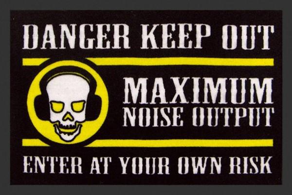 """Rockbites Fußmatte """"Danger Keep Out"""" Türmatte Fußabstreifer 66 (100685)"""