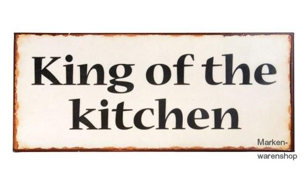 Ib Laursen - Schild Blechschild Metallschild, King of the kitchen