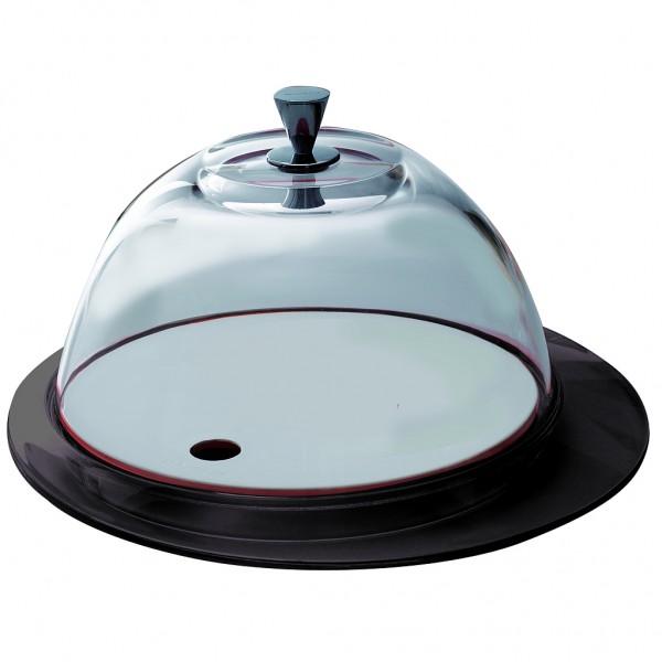 Casa Bugatti - Käseglocke, Tortenplatte, schwarz