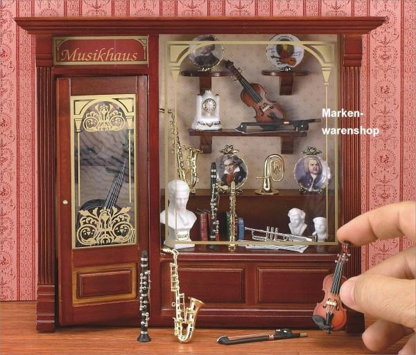 Reutter Porzellan Miniaturen - Wandbild Musikhaus 21x21cm (1.797/3) Musik Bild