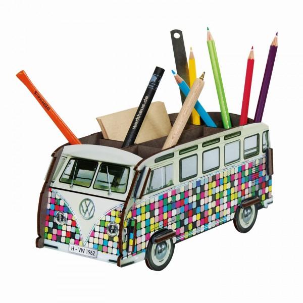 Werkhaus - Stiftebox VW Bus T1 Bulli Pixel WE2085 Stifte- Halter Köcher Becher