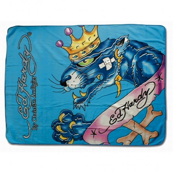 Ed Hardy - Fleece Decke Mick