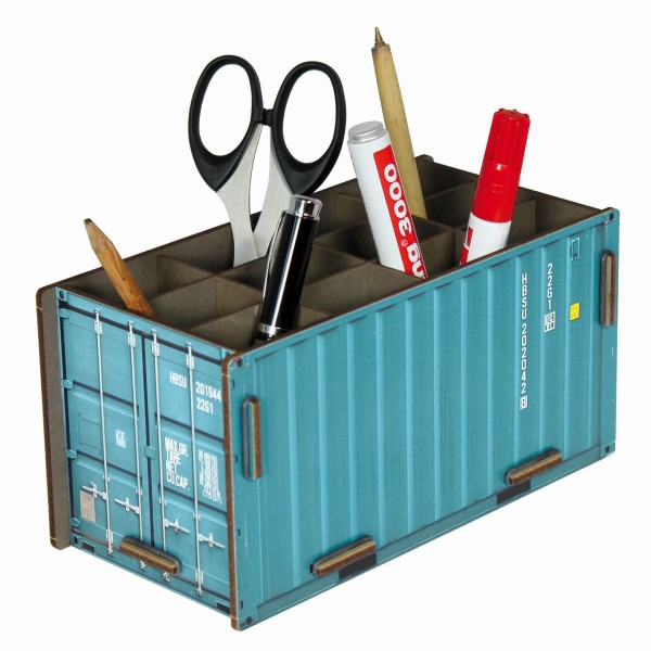 "Werkhaus - Photo - Stiftebox ""Container"" Türkis Stiftehalter Stifteköcher CO1013"