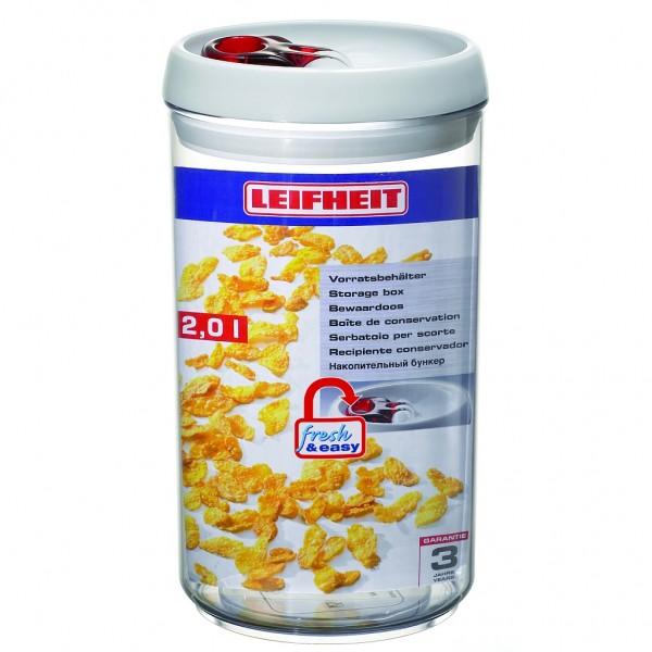 Leifheit Vorratsbehälter, Vorratsdose fresh & easy 2,0l rund
